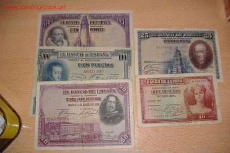 LOTE DE BILLETES (Numismática - Notafilia - Billetes Españoles)
