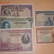 Billetes españoles: LOTE DE BILLETES . Lote 27217780