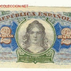 Billetes españoles: EBC+ 50 CTMS Y 2 PESETAS II REPUBLICA GUERRA CIVIL 1937 1938. Lote 22094671