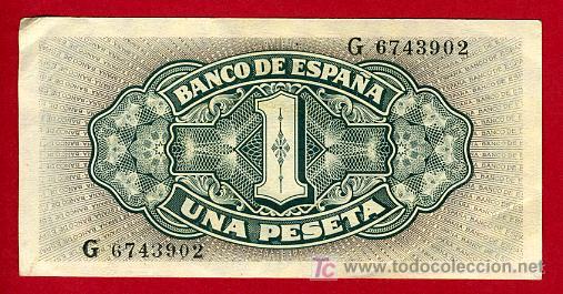 Billetes españoles: BILLETE 1 PESETA 1940 SEPTIEMBRE, BARCO , EBC+ , SERIE G , T902 - Foto 2 - 24502354