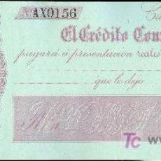 Billetes españoles: PAGARE DEL BANCO EL CREDITO COMERCIAL DE CADIZ. 1860. Lote 18381772