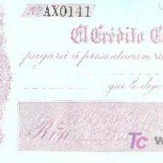 Billetes españoles: PAGARE DEL BANCO EL CREDITO COMERCIAL DE CADIZ. 1860. Lote 19084578