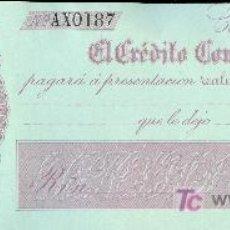 Billetes españoles: PAGARE DEL BANCO EL CREDITO COMERCIAL DE CADIZ. 1860. Lote 15191265