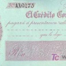 Billetes españoles: PAGARE DEL BANCO EL CREDITO COMERCIAL DE CADIZ. 1860. Lote 18586076