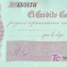 Billetes españoles: PAGARE DEL BANCO EL CREDITO COMERCIAL DE CADIZ. 1860. Lote 17547936