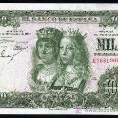 Billetes españoles: BILLETE 1000 PESETAS 1957 , MBC++ SERIE A ,RARO, T900. Lote 22958896