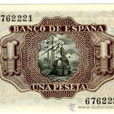 Billetes españoles: 1 PTA 22 JLIO 1953 SIN SERIE PLANCHA. Lote 27112151