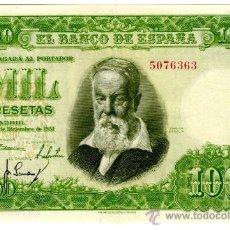 Billetes españoles: 1000 PTS 1951 SIN SERIE EBC+. Lote 26868783