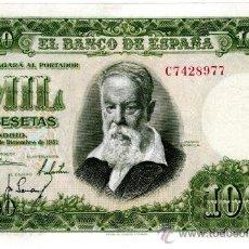 Billetes españoles: 1000 PTS 1951 EBC+ SIN CIRCULAR. Lote 27318333