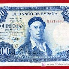 Billetes españoles: BILLETE 500 PESETAS 1954 , MBC+ , SERIE G , T798. Lote 25534992