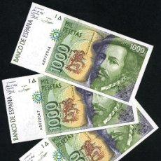 Spanische Banknoten - 1 BILLETE , BILLETE DE 1000 PESETAS 1992 , SERIE A , PLANCHA. - 168268201