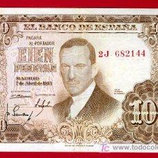 Billetes españoles: BILLETE 100 PESETAS 1953 , MBC+ ,SERIE 2J , T144. Lote 20353008