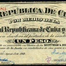 Billetes españoles: CUBA Y PUERTO RICO: 1 PESO 1869 S/C- PICK 61 EPOCA COLONIAL ESPAÑOLA. Lote 25772087