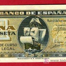 Billetes españoles: BILLETE 1 PESETA SEPTIEMBRE 1940 , PLANCHA , SERIE G , T691. Lote 21339527