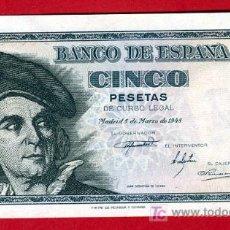Billetes españoles: BILLETE 5 PESETAS 1948, PLANCHA , SERIE D , T919. Lote 25067184