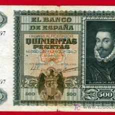 Billetes españoles: BILLETE 500 PESETAS 1940 ENERO , MBC SERIE A , T197. Lote 25905573