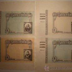Billetes españoles: O F E R T A !! 4 BILLETES BANCO VALLS.OBLIGACIONES.TARRAGONA.BONO.PAPEL MONEDA.MOSSOS ESCUADRA. BANC. Lote 46906304