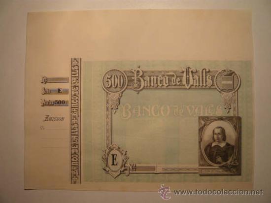 Billetes españoles: O F E R T A !! 4 BILLETES BANCO VALLS.OBLIGACIONES.TARRAGONA.BONO.PAPEL MONEDA.MOSSOS ESCUADRA. BANC - Foto 2 - 46906304