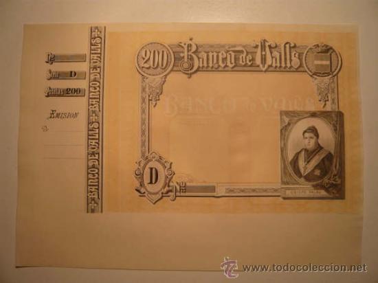 Billetes españoles: O F E R T A !! 4 BILLETES BANCO VALLS.OBLIGACIONES.TARRAGONA.BONO.PAPEL MONEDA.MOSSOS ESCUADRA. BANC - Foto 3 - 46906304