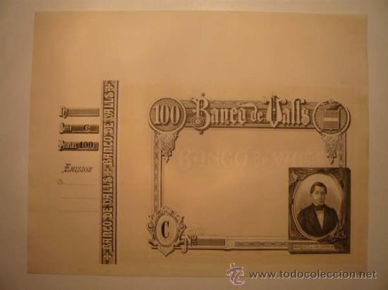 Billetes españoles: O F E R T A !! 4 BILLETES BANCO VALLS.OBLIGACIONES.TARRAGONA.BONO.PAPEL MONEDA.MOSSOS ESCUADRA. BANC - Foto 4 - 46906304
