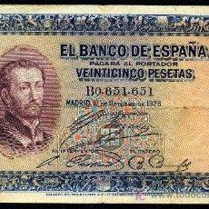 Billetes españoles: 25 PESETAS 1926 SERIE B BUEN MBC . Lote 25107895