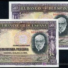 Billetes españoles: PAREJA 50 PESETAS 1935 SIN SERIE S/C . Lote 13150860