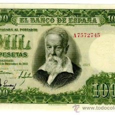 Billetes españoles: 1000 PTS 1951 SERIE A PLANCHA SIN CIRCULAR. Lote 27333324