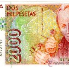 Billetes españoles: 2000 PTS 1992 SIN SERIE PLANCHA. Lote 26786541