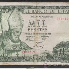 Billetes españoles: 1000 PESETA DE 1965 SAN ISIDORO . Lote 12993304