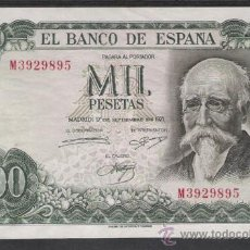 Billetes españoles: 1000 PESETA DE 1971. Lote 21061936