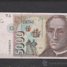 Billetes españoles: 5000 PESETA DE 1992 CRISTOBAL COLON. Lote 20581814