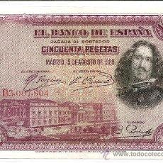 Billetes españoles: BILLETE DE 50 PTS. AGOSTO 1928 SERIE B - ALFONSO XIII QUE CIRCULO EN II REPUBLICA, SIN CIRCULAR. Lote 26552385
