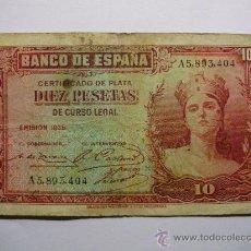 Billetes españoles: BILLETE DE 10 PTS REF BI005. Lote 26392518