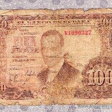 Billetes españoles: BILLETE DE CIEN PESETAS 1953 CON JULIO ROMERO DE TORRES. Lote 18433846