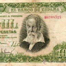 Billetes españoles: BANCO DE ESPAÑA. 1000 PESETAS. JOAQUIN SOROLLA. 1951. SÉRIE B.. Lote 27064194