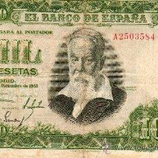 Billetes españoles: BANCO DE ESPAÑA. 1000 PESETAS. JOAQUIN SOROLLA. SERIE A. 1951.. Lote 27120044