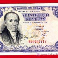 Billetes españoles: BILLETE 25 PESETAS 1946 , MBC++ , SERIE H , T141. Lote 27336769