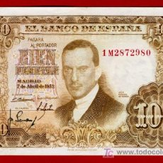 Billetes españoles: BILLETE 100 PESETAS 1953 , MBC++ , SERIE 1M , T980. Lote 20836827