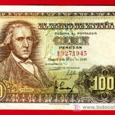 Billetes españoles: BILLETE 100 PESETAS 1948 , MBC+ , SERIE E, T945. Lote 20692751