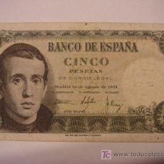 Billetes españoles: BILLETE DE 5 PTS. Lote 25808134