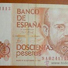 Billetes españoles: BILLETE 200 PTAS 1980 SERIE ESPECIAL 9A T113 . Lote 23901908
