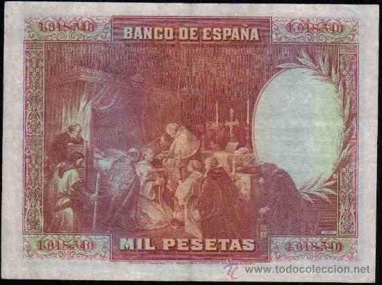 Billetes españoles: Billete de 1000 pesetas de 15 agosto de 1928 EBC - Foto 2 - 22090019