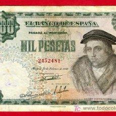 Billetes españoles: BILLETE 1000 PESETAS 1946 , MBC , SIN SERIE , T481. Lote 22645653