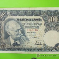 Billetes españoles: 500 PESETAS - 15 NOVIEMBRE 1951. Lote 27348647