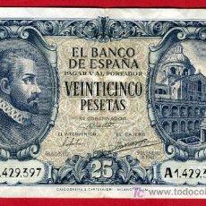 Billetes españoles: BILLETE 25 PESETAS 1940 , MBC, SERIE A , T397. Lote 27125537