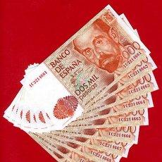 Billetes españoles: LOTE DE 10 BILLETES 2000 PESETAS 1980 ,PLANCHA, CORRELATIVOS , SERIE 1C , T661. Lote 47933098