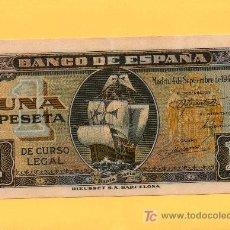 Billetes españoles: BILLETE 1 PESETA. BANCO DE ESPAÑA. SANTA MARÍA. 1.940. RIEUSSET. EBC. Lote 27369452
