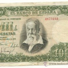 Billetes españoles: 1000 PESETAS 1951 JOAQUIN SOROLLA SIN SERIE MBC. Lote 26731881