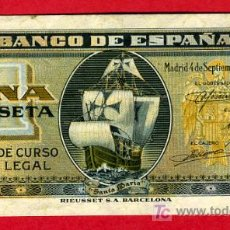 Billetes españoles: BILLETE 1 PESETA 1940 , EBC , SERIE G , T590. Lote 24915213