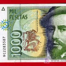 Billetes españoles: BILLETE 1000 PESETAS 1992 , MBC , SERIE ESPECIAL 9C , MUY RARO , T587. Lote 25067153